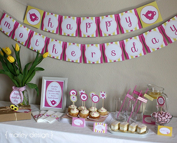 Printable mother s day tea party brunch printables instant
