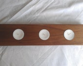 Solid Walnut tealight candle holder