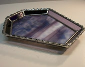Stained Glass Incense Burner In Deco Purple
