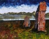 Calanais III Original Acrylic on Canvas Isle of Lewis Scotland Scottish Art