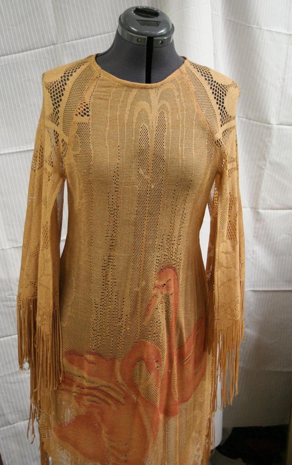 70s Overlay Dress Size Small