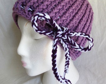Adult Ribbed Bow Hat - Ready To ship