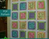 PDF Quilt Pattern - Crayon Box - Queen Size pattern