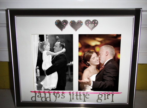 Daddy's Little Girl Picture Frame and Mat, Father's Day Gift, Personalized Frame, Wedding Frame, Wedding Gift, Father of the Bride
