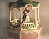 Vintage Wind Up Music Box by Enesco