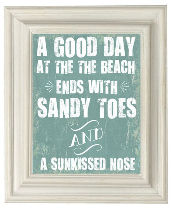 Digital Download No. 085, Beach Quote Print