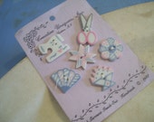 Ceramic Buttons with Sewing/Quilting Theme