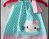 Pretty Polka Dot Hello Kitty Applique Dress