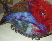 Decorative Serving Platter, Fish Platter, Party Platter,  Multi Colored Server, or simply Home Decor.