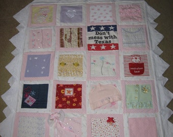 Baby Memory Quilt, Baby Clothes Quilt