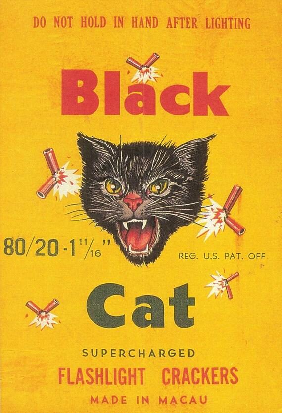 black cat cl  firecracker brick label  tborgendale