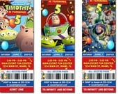 Toy Story Birthday Ticket Invitation - Printable Toy Story Ticket Invitation