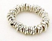 Sterling Silver Ring of Jump Rings