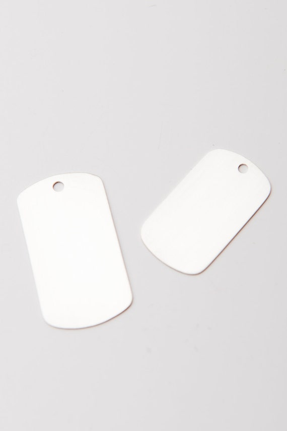 Sterling Silver Dog Tags, Set of 2, Small Dog Tag & Large Dog Tag, Sterling Silver Stamping Blanks Discs