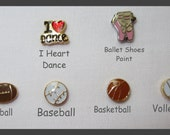 Choice of Sports, Hobbies, or Occupation Charm for Floating Charm Lockets