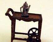 Vintage Dollhouse Minature Tootsie Toy Tea Cart 1920s