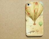 iphone 4 case decoupage  : Bon Voyage
