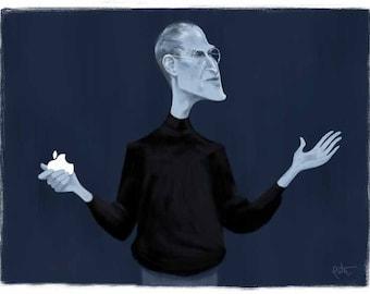 Steve Jobs, 8.5x11 print