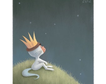 Maurice Sendak Tribute, 11x14 print