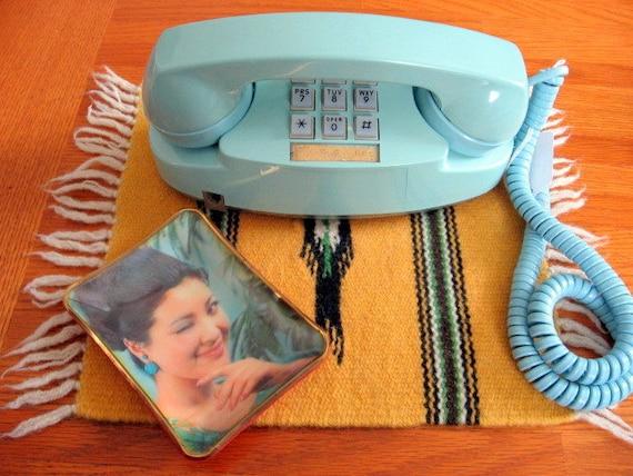 1960s Light Blue Touchtone Bell Princess Phone