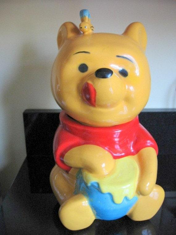 1970s Ceramic Winnie The Pooh Cookie Jar