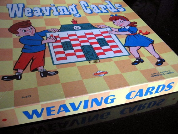 SALE 1950s Canadian Weaving Card Set of 6