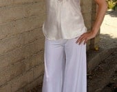 Velvet Stretch Lounge Pants // Yoga Pants // Casual Chic // White Kundalini Yoga Pants