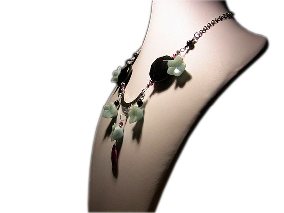Larimar flower necklace