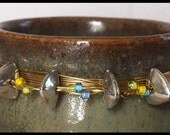 Eclectic JEWELED Stoneware, Home Decor, COLLECTORS PIECE, Miniature Pottery