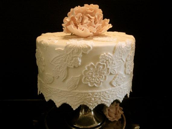 Elegant Fondant Lace Cake Decorating Kit 6 Inch Round
