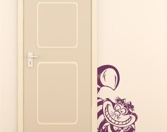 Cheshire cat vinyl wall decal