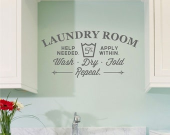 Laundry Room vinyl wall decal sticker (large)