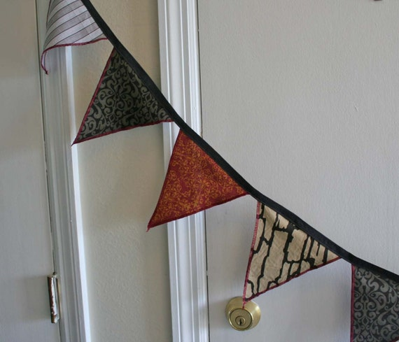 Gypsy punk carnie fabric flag banner. Give your home a touch of the carnival