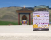 Black Amber and Lavender Soy Candle Made at Garden of One Thousand Buddhas