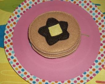 Felt Food - 3 Pancakes with Syrup & Butter Felt Play Food Set