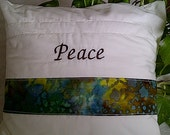 Decorative Throw Pillow -Peace Inspirational Pillow