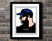 Lou Gehrig of the  New York Yankees Baseball Team Digital Print - 11x14