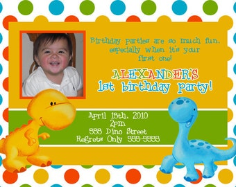 Lil Dino Invitation