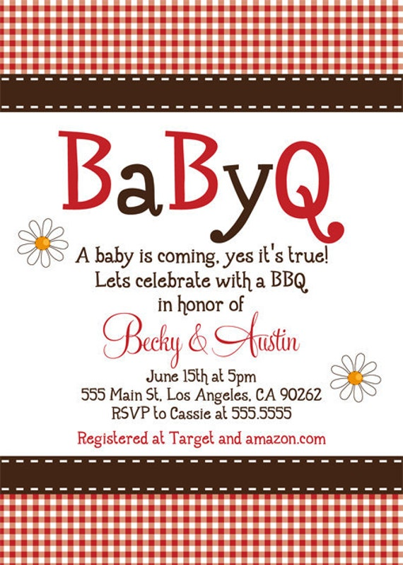 BaByQ Baby Shower Invitation by dpdesigns2012 on Etsy