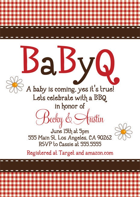 babyq baby shower invitation