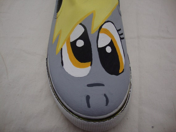 My Little Pony Derpy Hooves Inspired Hand Painted Canvas Shoes