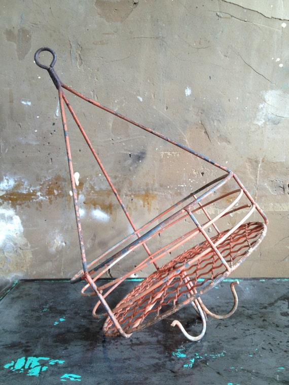 Vintage Industrial Coal Miner's Basket