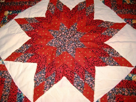 80's Vintage Star Quilt Wall Hanging
