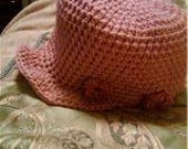 A brimmed hat