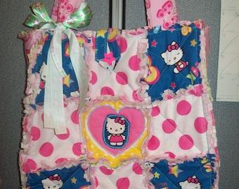 Cute Hello Kitty Rag Tote Bag