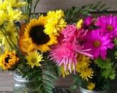 As Featured on dandeliondeals.com Set of 2 Mason Jar Frog Flower Lids - Diy Flower arrangers WIDE or Regular mouth