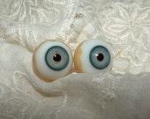 GERMAN Pre WW1 Antique Glass Doll Eyes - BLUE - Size 15mm