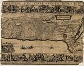 Palestine 1650, Ancient maps, Antique world maps, Old World Map illustration Digital Image, 21
