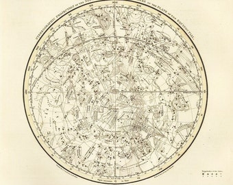 Southern Hemisphere, Galaxy, Antique map of the Moon, Antique world maps, ancient maps, jamieson plate 15