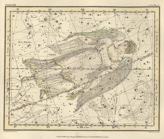 Virgo Constellation Map
